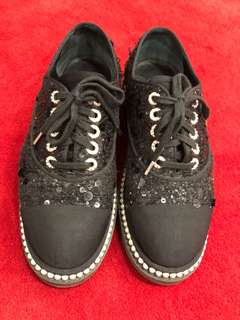 Chanel Sequin Pearl Shoes 39.5