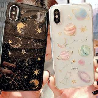 {#005} Glitter Galaxy Phone Case