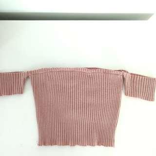 #july70 Kylie off shoulder knit top