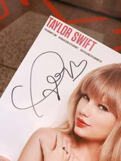 Limited Edition Hand-Signed Taylor Swift Poster (from the Red era)