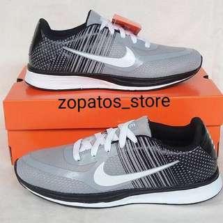 Nike run flyknit grey black