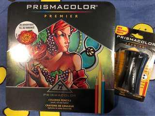 NEW Prismacolor 72 Colored Pencils + Prismacolor Sharpener