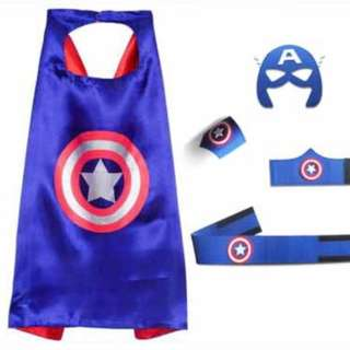 PRE-ORDER: Captain America Cape, Mask, Wristband & Belt