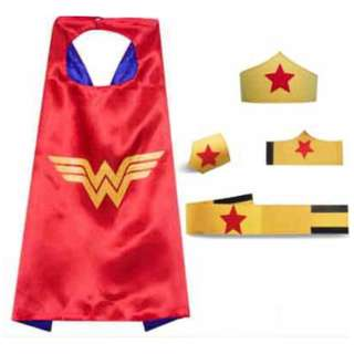 PRE-ORDER: Wonderwoman Cape, Mask, Wristband & Belt