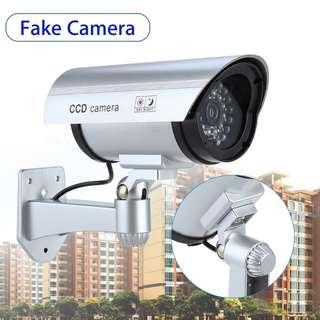 🚚 INSTOCK! Outdoor CCTV Surveillance Fake Dummy Security IR Camera With 30 Illuminating LED Light & Motion Detective Sensor (Silver)