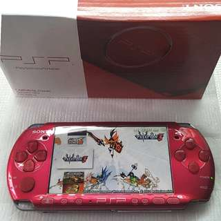 RED PSP 3000 FOR SALE