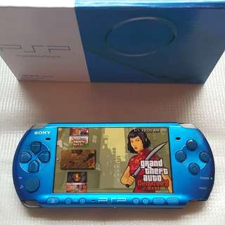 BLUE PSP 3000 FOR SALE