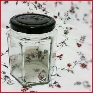 ♻ Hexagon Mason Glass Jars
