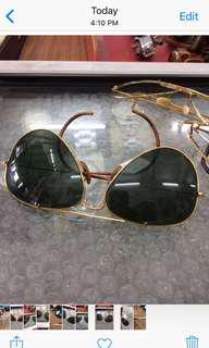 Vintage avaitor.. g 15 green lens...Rayban b& l...