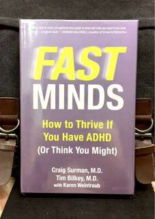 《New Book Condition + Hardcover Edition + Guide Book For Attention-Deficit Hyperactivity Disorder (ADHD) 》Dr Craig Surman - FAST MINDS : How to Thrive If You Have ADHD (Or Think You Might)