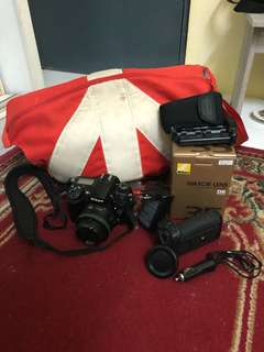 Nikon D7000 Full Set + Nikkor 35mm & Tokina 11-16mm lens