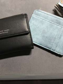 ($ for both) Forever Young and card holder wallet