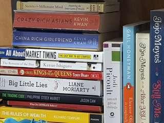Novels books pocket books by Kevin Kwan, Jodi Picoult etc.