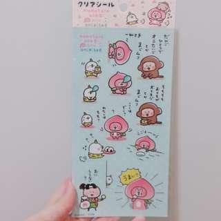 日本 kanahei 桃太郎系列兔兔P助 貼紙