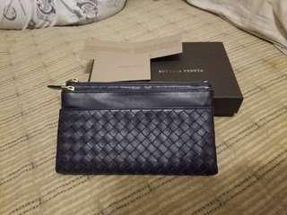 Bottega Veneta Dark Blue Long Wallet