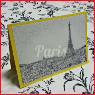 ✒ Hand Drawn Card For Any Ocassion - Sketch Of Paris