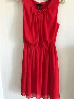 🚚 紅氣質洋裝雪紡