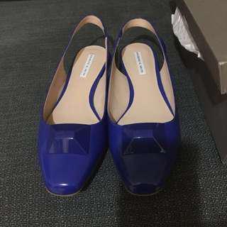 🚚 小ck 寶藍色平底涼鞋
