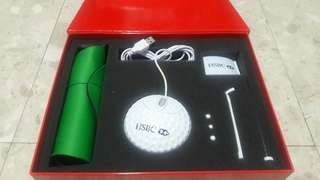 Golf themed usb mouse and mouse pad