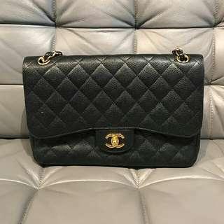 Chanel Double Flap Caviar Jumbo