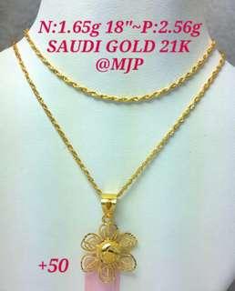 SAUDI GOLD 18K 100% PAWNABLE