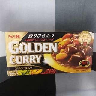 日本咖喱磚大盒裝 S&B金牌咖喱塊辛口 Golden Curry  198g(食用限期: 2019年3月9日) 日本製調味料 食品 食物