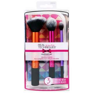 AUTHENTIC real techniques Limited Edition Multitask Set brush set for face base finish
