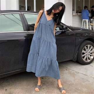 Denim Holiday Long Dress