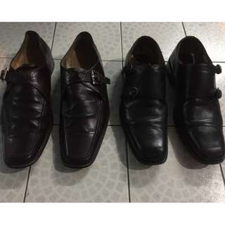 Florsheim and Ficce Collezione leather shoes dress formal