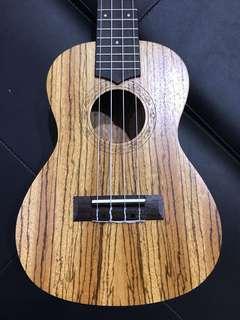 Concert zebrawood ukulele