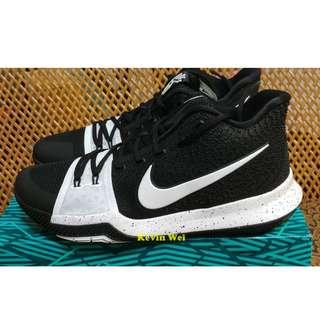 Nike Kyrie 3 TB 黑白 Tuxedo 917724-001 籃球鞋 US10