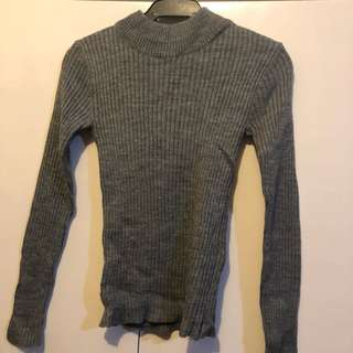 Turtle neck knotted top