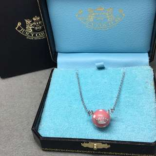 Juicy Couture sample pink dot Necklace 粉紅色配白色波波頸鏈 附有原裝盒