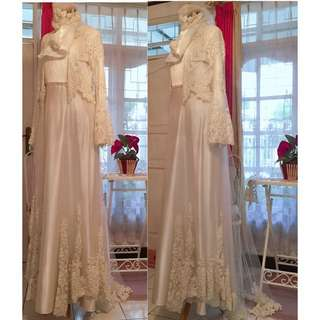 For Rent Perdana Muslimah weddjng Dress