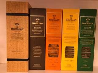 Macallan edition 1-4 麥卡倫 山崎 響 余市 hibiki yamazaki yoichi