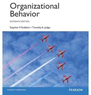 Organizational Behavior Sixteenth Edition