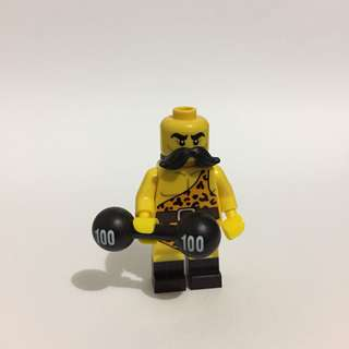 Strongman with barbell