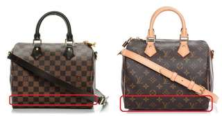 How to indicate fake vs real LV Speedy/Bandouliere