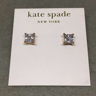 Kate Spade New York Sample Earrings 金色正方形閃石耳環