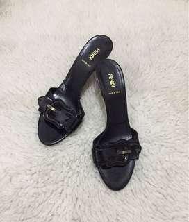Authentic Fendi Vernice Peep toes Patent Leather Sandals
