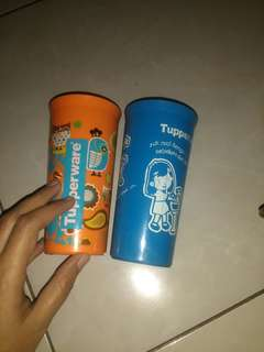 Gelas Tupperware 2pcs @50rb