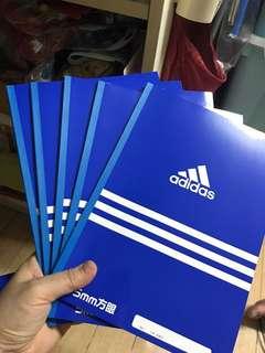 Adidas x Uni 記事簿 $20-5本