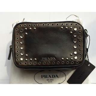 Prada  cross body bag 鑲嵌水鑽 斜孭袋  * Made in Italy  意大利製造  *