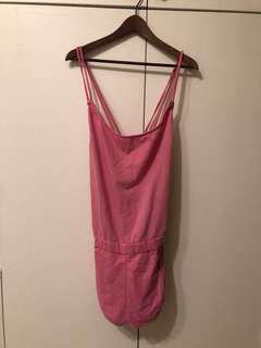 DlESEL 粉色吊帶短褲