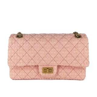 罕有Chanel 粉紅色2.55 bag 90%新