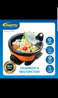 Powerpac Multipurpose cooker for Steamboat Frying BBQ and more