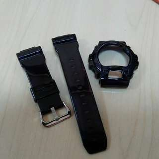 Band and Bezel black jelly for G-shock DW6900