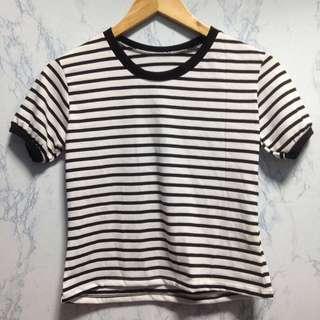 Stripes semi crop top