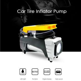 AP2837 Car Tire Inflator Digital Display for Motorcycle Bicycle (YELLOW AND BLACK)