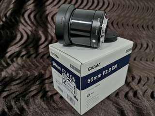 Sigma 60mm f2.8 DN for MFT/M43 Olympus Panasonic
